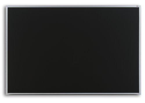 Marsh Pro-Rite 48X144 Black Porcelain Chalkboard Contractor Aluminum Trim  1 Map Rail