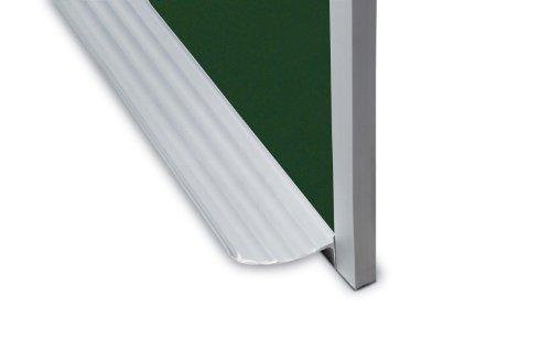 Marsh Pro-Rite 48X60 Green Porcelain Chalkboard Standard Aluminum Trim  1 Map Rail