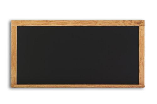 Marsh Pro-Rite 48X72 Black Porcelain Chalkboard Red Oak Wood Trim