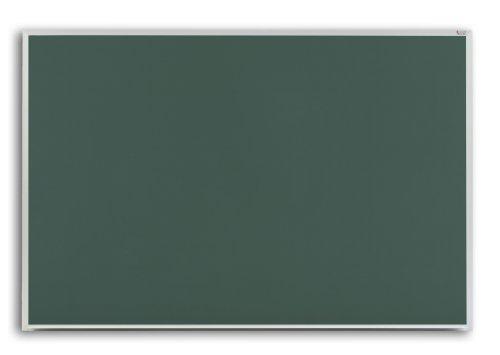 Plutus Brands-Pro-Lite 60x192 Green Porcelain Chalkboard Thin Line Aluminum Trim  2 Map Rail