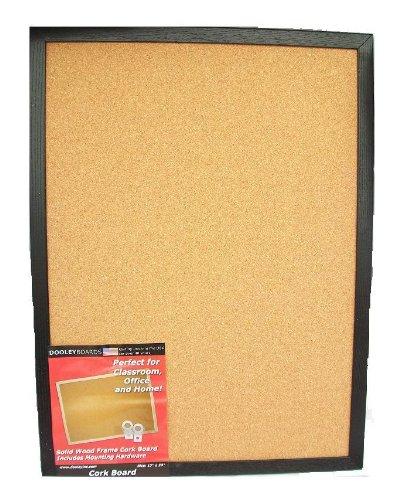 Dooley Boards Black Framed Cork Board 225 x 345 Inches Black 2436COBL