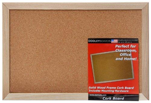 Dooley Wood Framed Cork Board 11 x 17 Inches 1 Board 1218CO