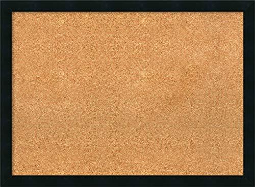 Framed Natural Cork Board Bulletin Board  Natural Cork Boards Mezzanotte Black Frame  Framed Bulletin Boards  3025 x 2225