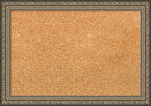 Framed Natural Cork Board Bulletin Board  Natural Cork Boards Parisian Silver Frame  Framed Bulletin Boards  2025 x 1425