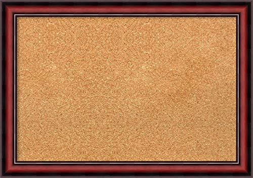Framed Natural Cork Board Bulletin Board  Natural Cork Boards Rubino Cherry Scoop Frame  Framed Bulletin Boards  2700 x 1900