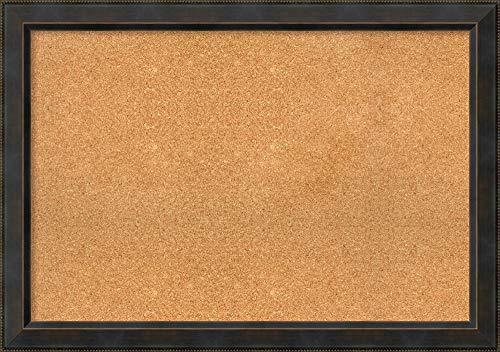 Framed Natural Cork Board Bulletin Board  Natural Cork Boards Signore Bronze Frame  Framed Bulletin Boards  4038 x 2838