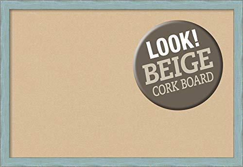 Framed Tan Cork Board Bulletin Board  Tan Cork Boards Sky Blue Rustic Frame  Framed Bulletin Boards  3825 x 2625