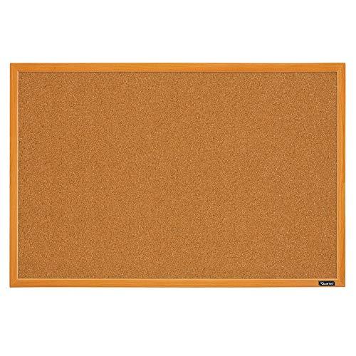 Quartet Corkboard Framed Bulletin Board 2 x 3 Cork Board Oak Wood Finish Frame MWDB2436-ECR Oak Frame