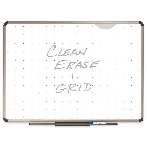 Quartet Euro Prestige Total Erase Dry-Erase Board 3 x 2 Feet AluminumTitanium Finish Frame TE563T