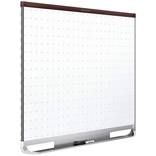 Quartet Whiteboard White Board Dry Erase Board 4 x 3 Mahogany Finish Frame Prestige 2 Total Erase TE544MP2