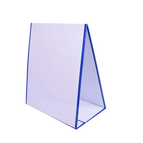 Milisten Magnetic Dry Erase White Board Double Sided Foldable Desktop Whiteboard for Students