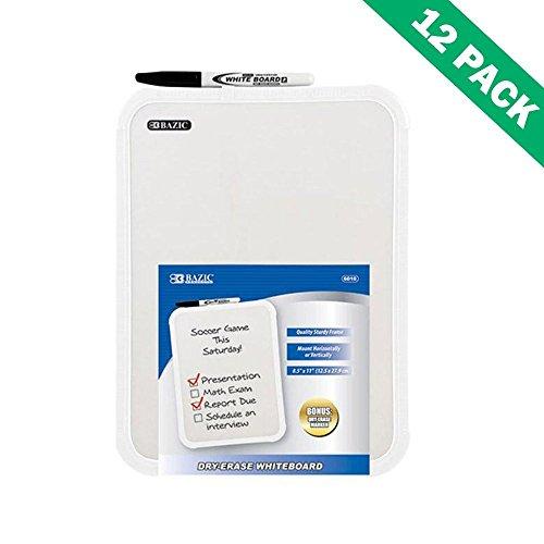 White Dry Erase Board Rectangular Mounted 85x11 White Erase Board Set Of 12