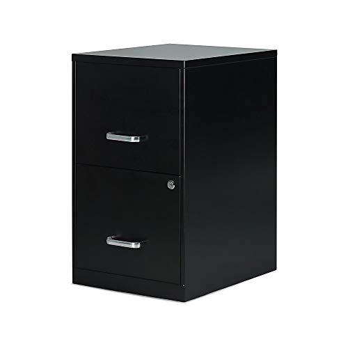Staples 2806262 2-Drawer Vertical File Cabinet Locking Letter Black 18-Inch D 52149