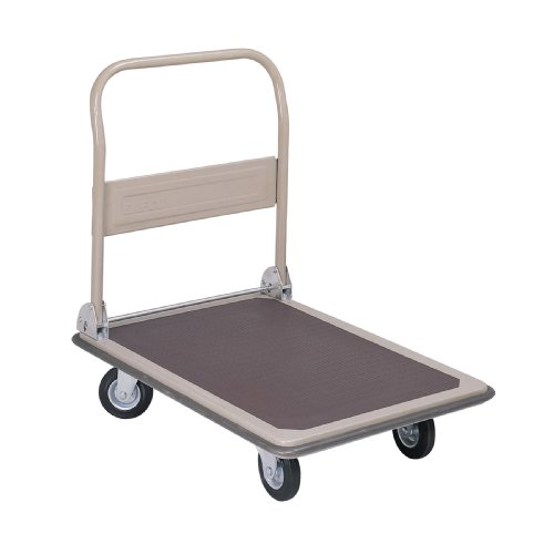 Safco Products Fold Away Large Platform Utility Hand Truck Tropic Sand