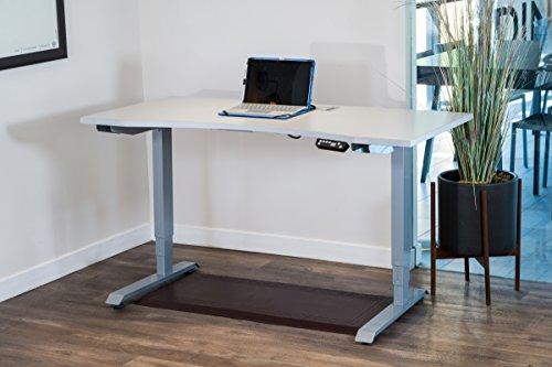 Ergomax Office ABC592GR426GR Electric Height Adjustable Desk Set with 55 x 28 Desktop Grey Tabletop Grey Base