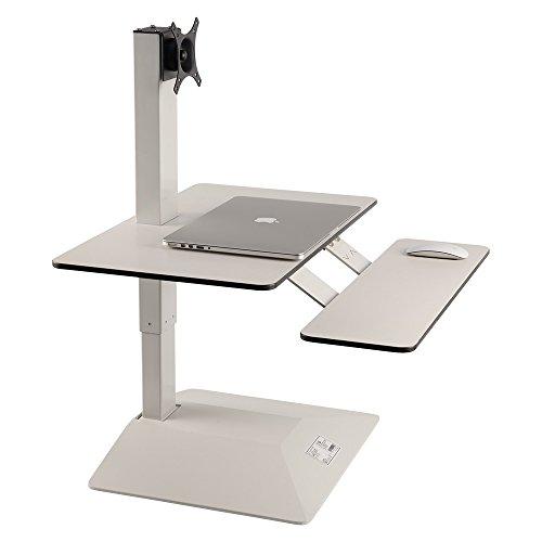 LihiDesk Touch Type UpDown Electric Height Adjustable Desktop Ergonomic Workstation Standing Desk Converter Sit To Stand Up Computer RiserLaptop Tabletop Motorized Convert Desk To Standing Desk