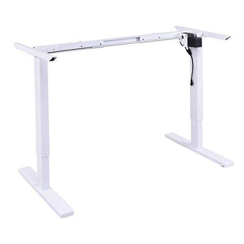 Tangkula Tangkula Electric Stand Up Desk Frame with Single Motor Metal Height Adjustable Frame White