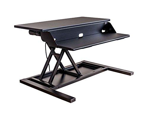 Luxor Electric Level Up Pro 32 Height Adjustable Sit Stand Desk Riser Stand up Tabletop Workstation - Black