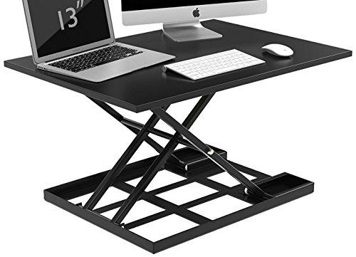 TGEG Ergonomic Pro Height Adjustable SitStand Desk Riser Office Computer Top Desk Black