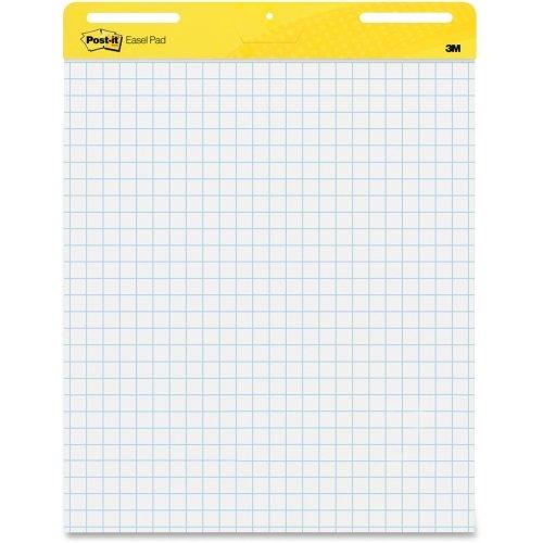 Post-it Self-Stick Easel Pad - 30 Sheet - Quad Ruled - 25 x 30 - 2  Carton - White Paper