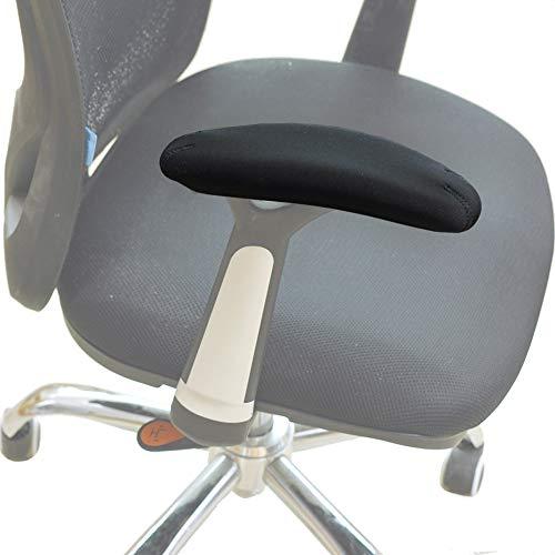 BlueCosto Neoprene Armrest Cover Office Chair Arm Covers Rest Pads Black - SmallSet of 2