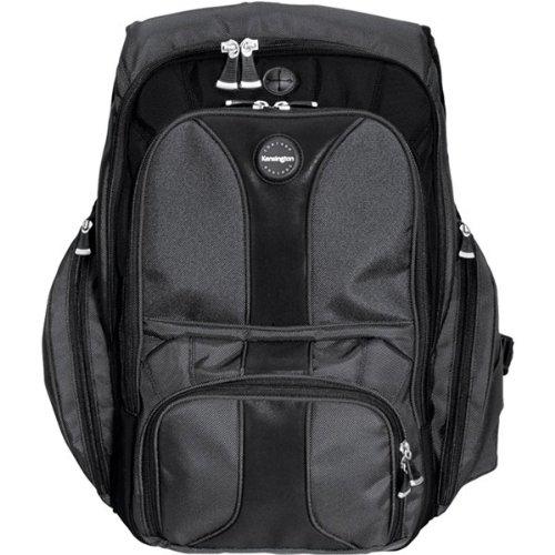 Kensington Contour Carrying Case Backpack for 17 Notebook - Black CONTOUR BACKPACK ADJUSTABLE LUMBAR SUPPORT DARK GREEN NB-CAS Ballistic Nylon