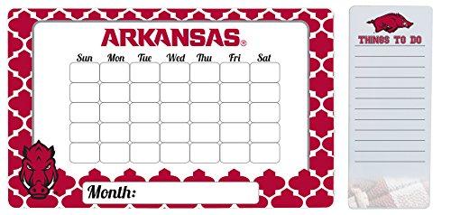 Arkansas Razorbacks 9 x 15 Moroccan Dry Erase Calendar and 4 x 10 Dry Erase Board