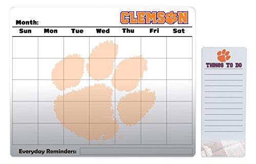 Clemson Tigers 16 x 20 Dry Erase Calendar Peel and Stick and 4 x 10 Dry Erase Board Peel and Stick