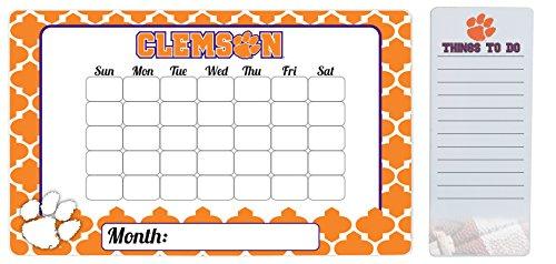 Clemson Tigers 9 x 15 Moroccan Dry Erase Calendar and 4 x 10 Dry Erase Board