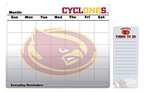 Iowa State Cyclones 16 x 20 Dry Erase Calendar Peel and Stick and 4 x 10 Dry Erase Board Peel and Stick