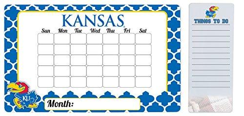 Kansas Jayhawks 9 x 15 Moroccan Dry Erase Calendar and 4 x 10 Dry Erase Board
