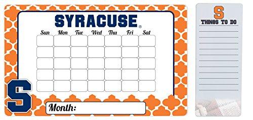 Syracuse Orange 9 x 15 Moroccan Dry Erase Calendar and 4 x 10 Dry Erase Board