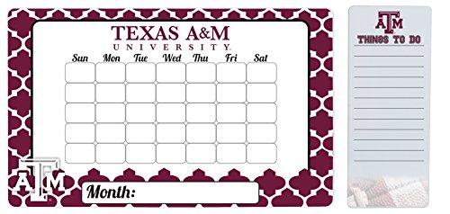 Texas A&M Aggies 9 x 15 Moroccan Dry Erase Calendar and 4 x 10 Dry Erase Board