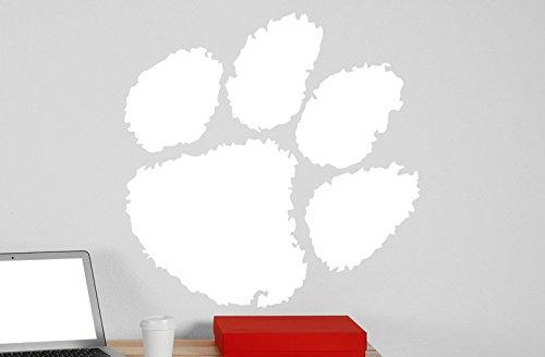 Clemson University Logo Vinyl Whiteboard Decal 22x22 white