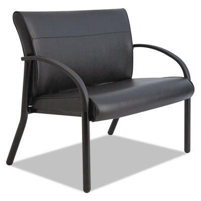 Gratzi Reception Series Bariatric Guest Chair Black Vinyl Sold as 1 Each