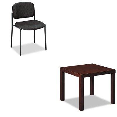 KITBSXBLH3170NBSXVL606VA10 - Value Kit - Basyx VL606 Stacking Armless Guest Chair BSXVL606VA10 and Basyx Laminate Occasional Table BSXBLH3170N