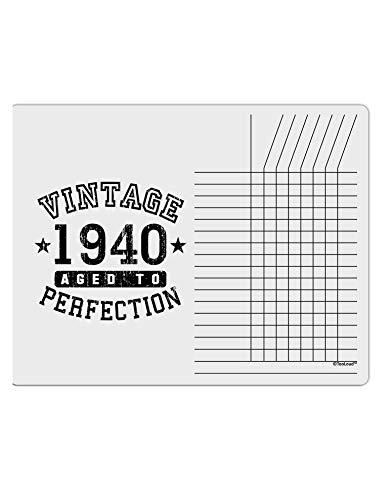 TooLoud 80th Birthday Vintage Birth Year 1940 Chore List Grid Dry Erase Board