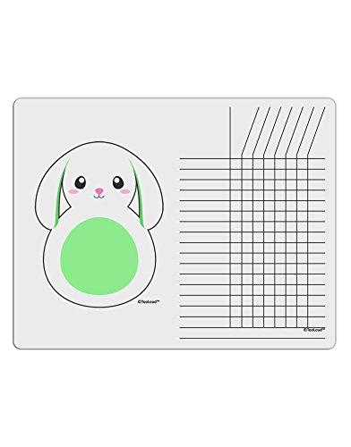 TooLoud Cute Bunny with Floppy Ears - Green Chore List Grid Dry Erase Board