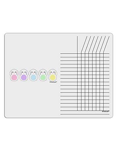 TooLoud Cute Pastel Bunnies Chore List Grid Dry Erase Board
