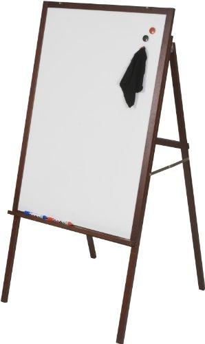 Best-Rite Oak Presentation Dry Erase Easel Mahogany Wood Frame 745M