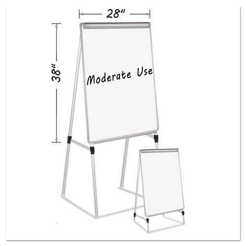 MasterVision Quad-Pod Presentation Easel  28 x 405 Dry Erase Board Silver