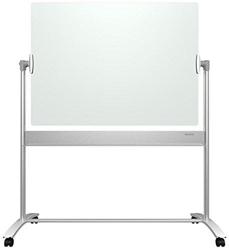 Quartet Glass Easel 4 x 3 Magnetic Infinity Reversible Whiteboard  Flip Chart Mobile Presentation ECM43G