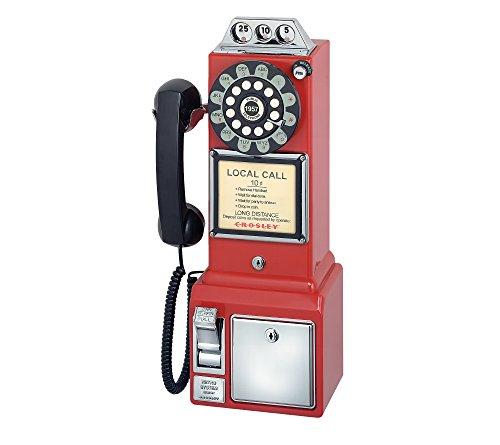 Crosley Radio 1950s Classic Pay Phone Red