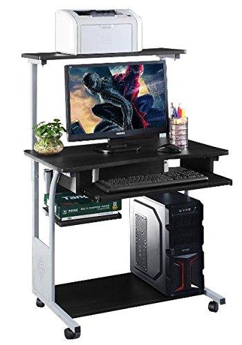 K&A Company Writing Computer Desk Table Home Office Laptop Furniture Workstation Side Storage Drawer Modern Folding Printer Shelf