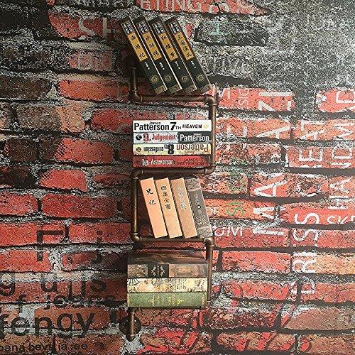 DIY Industrial Retro Wall Mount Iron Pipe Shelf Storage Shelving Bookshelf