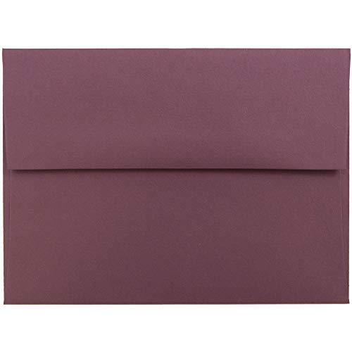 JAM PAPER A6 Premium Invitation Envelopes - 4 34 x 6 12 - Burgundy - 50Pack