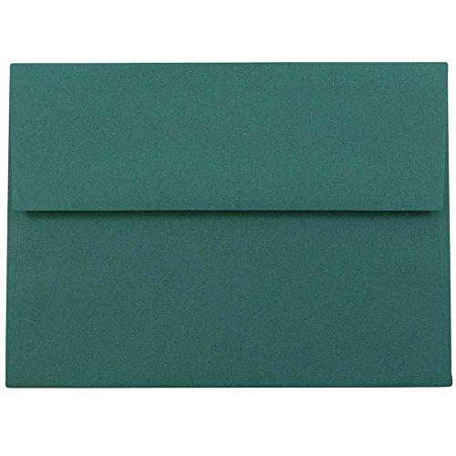JAM PAPER A6 Premium Invitation Envelopes - 4 34 x 6 12 - Teal - 50Pack