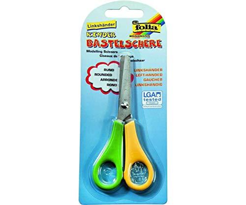 Childrens Scissors 135 cm Round for Left Handed in Blister Folia Bringmann