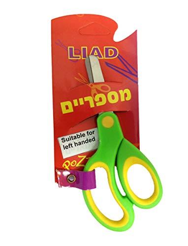 EASY Cat School Left Handed Kids Scissors 5 Inch Stainless Steel Blunt Pointed Tip