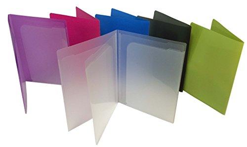 Filexec Products 4 Pocket PortFolder Assorted Pack of 6 50373-3140
